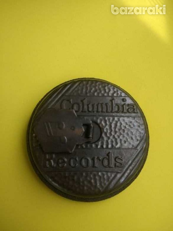 Antique 1940s columbia records record cleaning disk-2