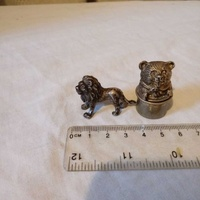 Two vintage miniatures figurines 925 sterling silver .