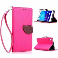 Dual color hot leaf case for sony xperia z3 pink
