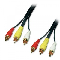 Lindy av cable 3xrca m to 3xrca m 3m - 35543