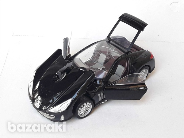 Burago collectible diecast model car peugeot 907 1/18 scale in good co-3