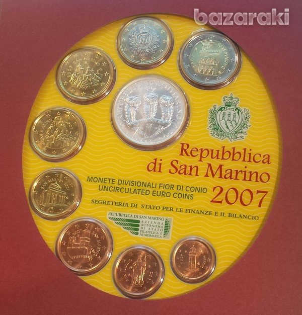 San marino 2007 blister set with token-1