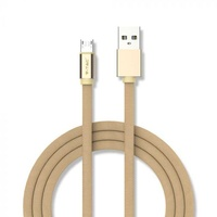 Micro usb cable gold 1m