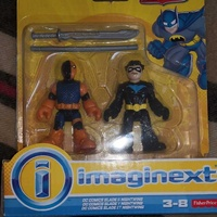 Imaginext, dc comics justice league, slade deathstroke and nightwing