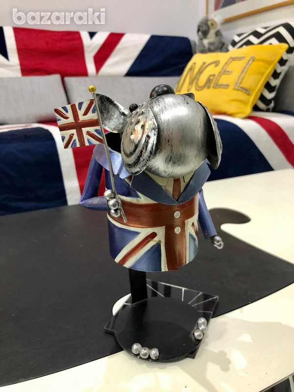 British bulldog metal ornament-2