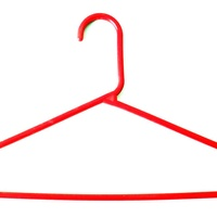 Baby size orange plastic hangers