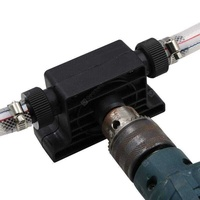 Portable water suction pump electric drill driving large flow