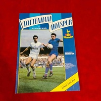 Tottenham vs sunderland 1984 official football programme