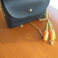 New total black bag