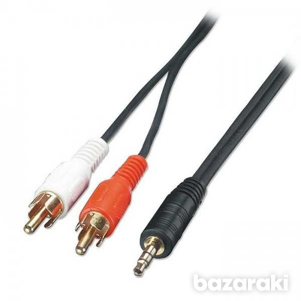 Lindy 3m audio cable stereo 2 x rca m to 3.5mm m