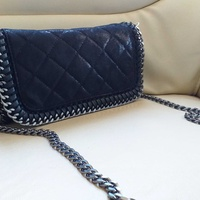 New black clutch bag