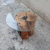 Olive wood trunk coffee table