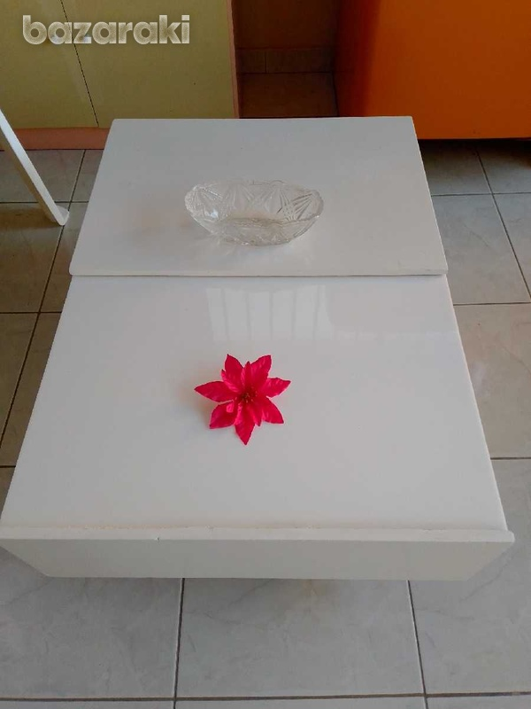 Coffee table with adjustable feets 90x65 excellent condition like new.-1