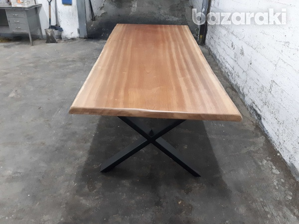 Natural african sapele wood dining table-5