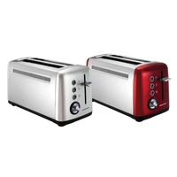 Morphy richards long slot toasters 245003-red and 245002-silver