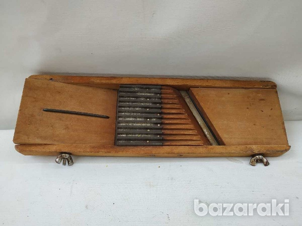 Antique wooden food grater adjustable7-1