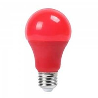 New 9w a60 led red color plastic bulb e27