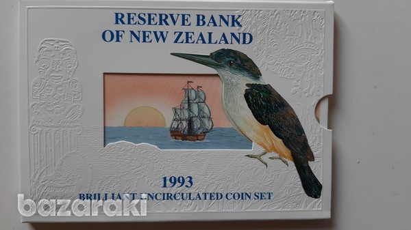 New zealand 1993 uncirculated coin set in blister - look at the photos-1