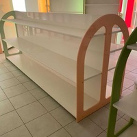 Colourful double sided product rack