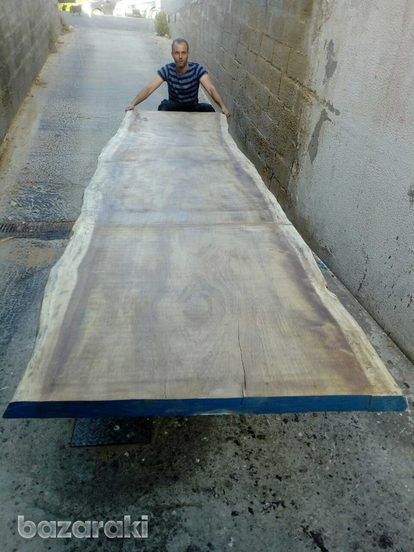 Huge iroko wood for dining tables-2