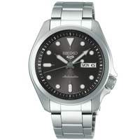 Seiko 5 sports automatic grey dial silver steel men's watch