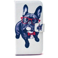 Case for samsung galaxy s6 flip dog with glasses