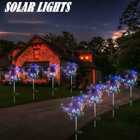 2 x pack led solar powered stake fairy light garden outdoor