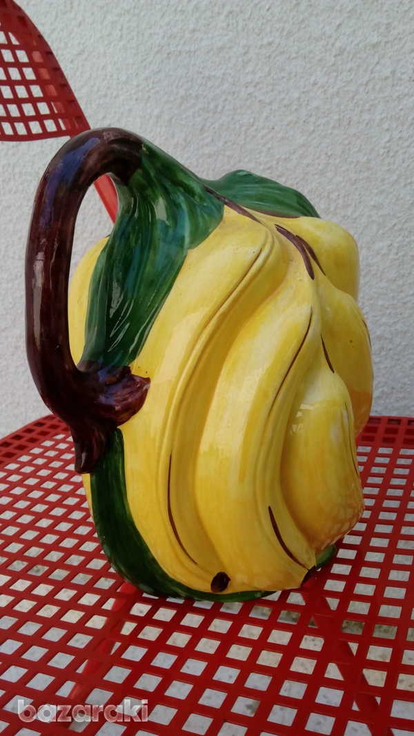 Italian handpainted retro banana shaped vase-5