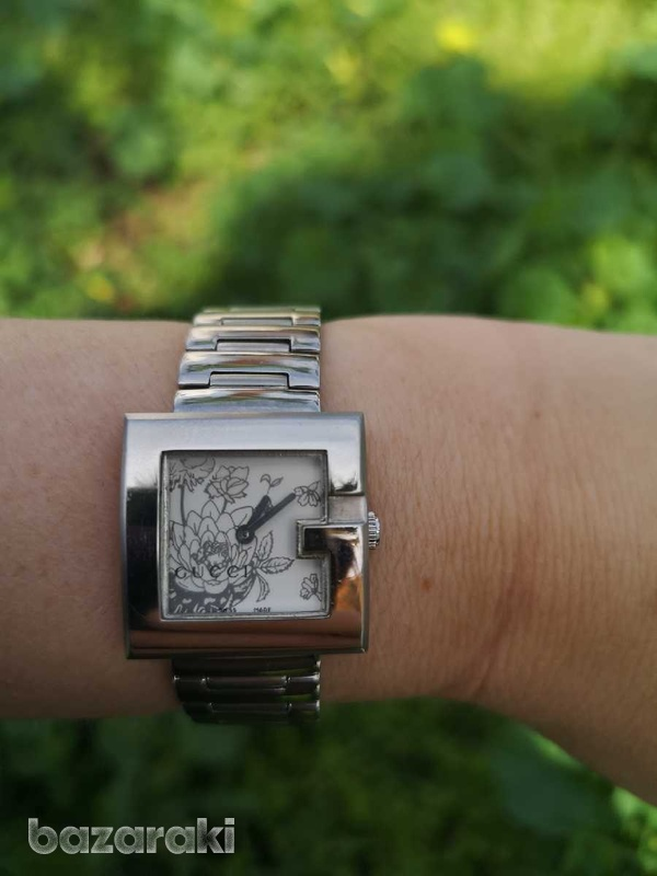 Floral gucci ladies watch, like new-2