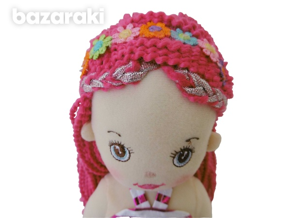 Mermaid doll multicolor sequins color - plush τoy - κούκλα γοργόνα-5