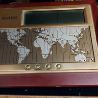 Collectors item. seiko global desk electronic watch