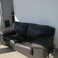 Real leather sofas set