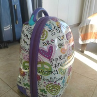 Suitcase schoolbag with wheels for boys and girls