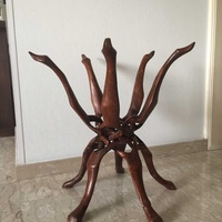 Handmade wooden stand 60 cm height and 58 cm diameter