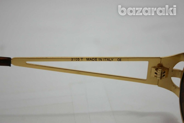 Magadesign vintage sunglasses italy 3105t rare gold w/ brown 49mm-4