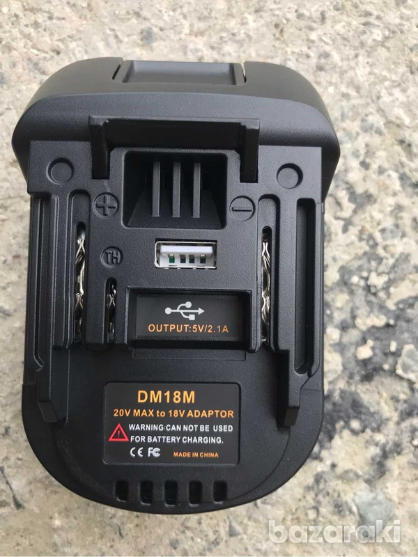 2 in one makita adaptor to use dewalt battery + usb charger-3