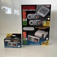 Nes - nintendo entertainment system with 2nd controller and snes all new seaded