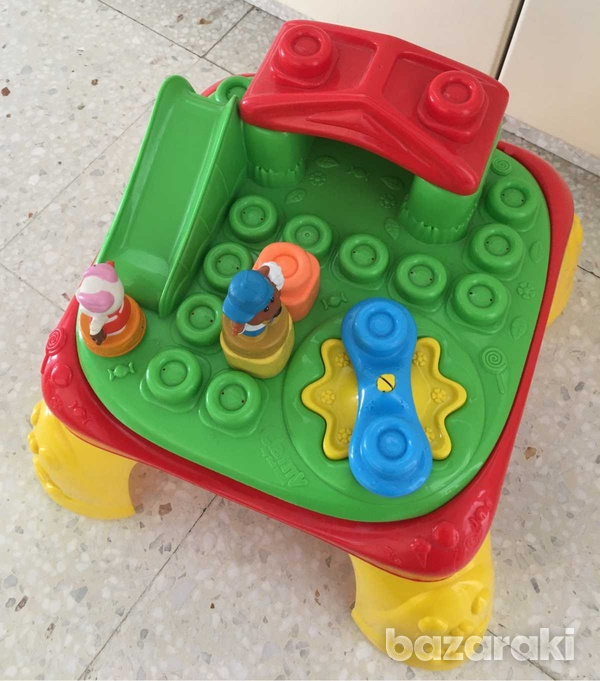 Baby play table with blocks-1