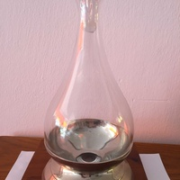 Silver plate wine decanter