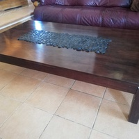 Large solid wood coffe table