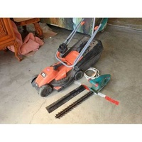 Black & decker e-drive 32cm electric lawn mower together with bosch ahs 45-16 he