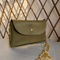 New clutch bag olive color