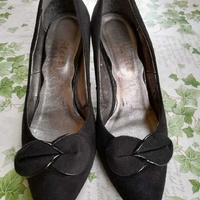 Nearly new black suedette shoes
