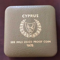 Cyprus 1978 silver proof