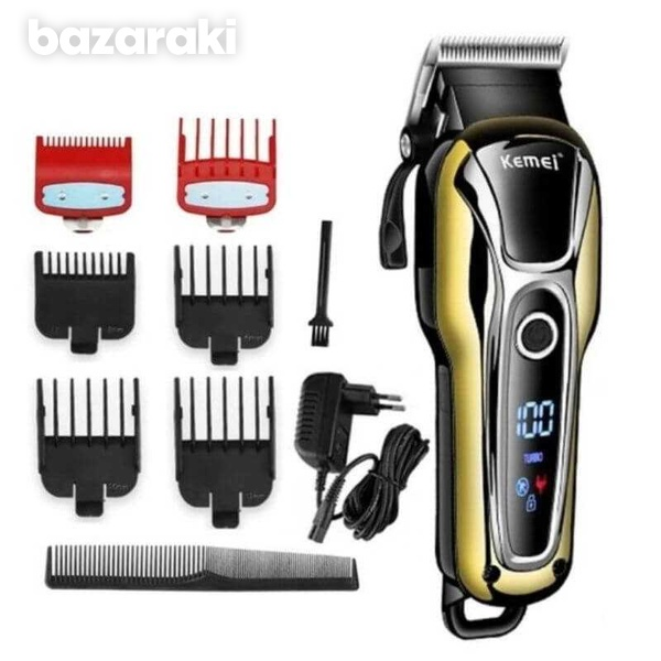6 combs kemei cordless clipper-1