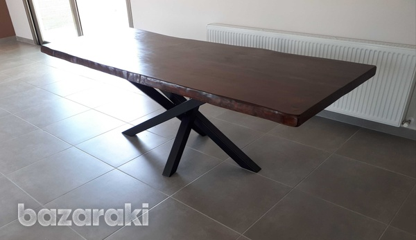 Dining table natural wood-1