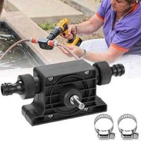 Portable water suction pump electric drill driving large flow micro pu