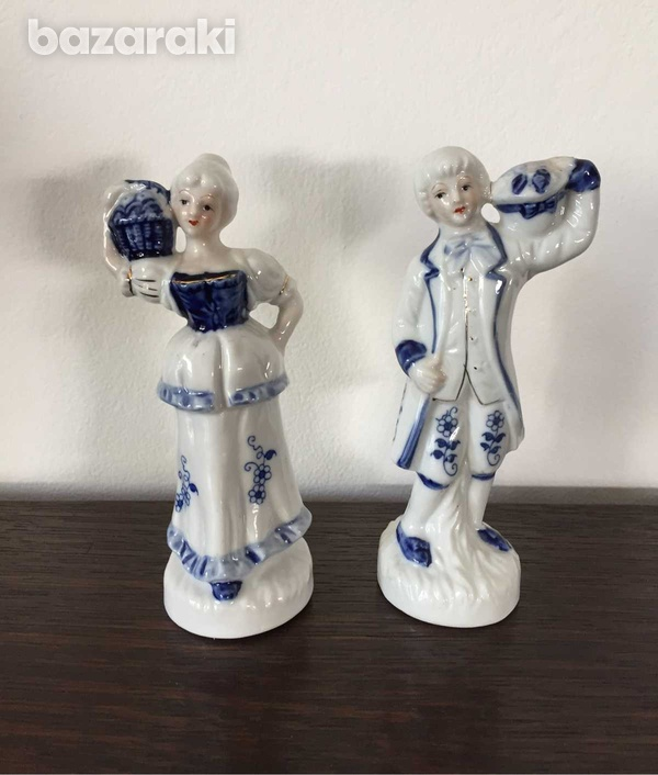 Vintage man and lady figurines 16 cm height-1