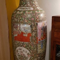 7 foot tall chinese vase, from 1920