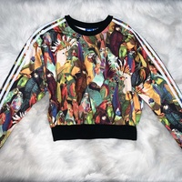 Adidas cropped sweatshirt with parrot print
